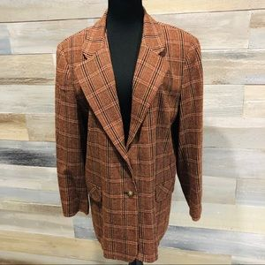 Koret petite vintage brown wool blend blazer 18